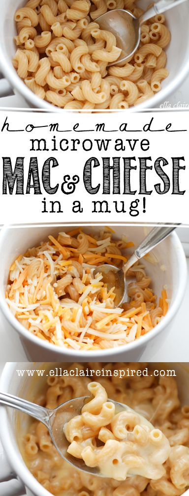 Make a single serving of homemade Macaroni and Cheese in your microwave! This is the best recipe! So quick and easy to make