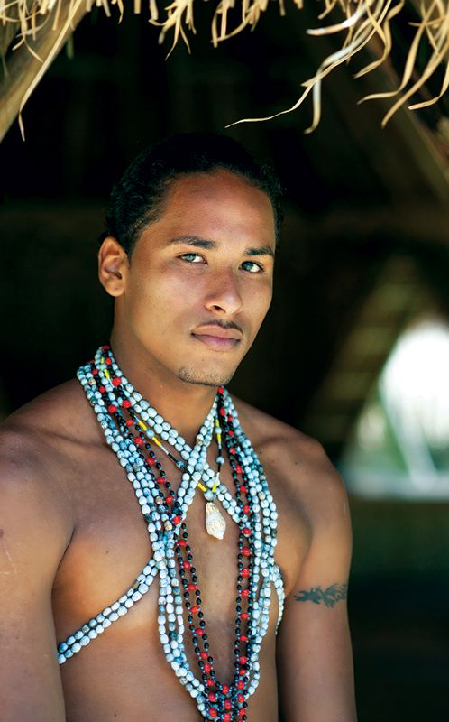 A man from The Kalinago tribe of the east coast of Dominica, in the Eastern Caribbean.