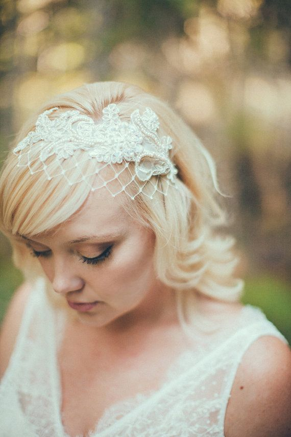 Birdcage Veil Ivory English Net Merry Widow Veiling