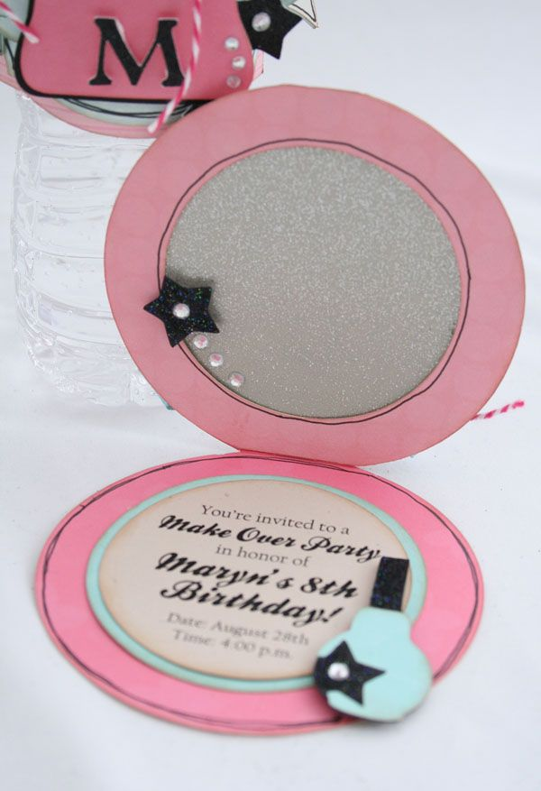 Compact Invitations using the Make-Up Party Cricut ...