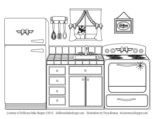 Coloring Decorate Your Own Kitchen Lindsay Dillon Ann