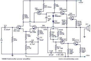 100wsubwooferamplifiercircuit | AMPLIFIER | Pinterest