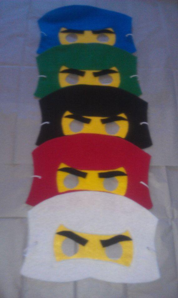 Ninjago Ninja Party Favors Felt Mask Set Of 15 By