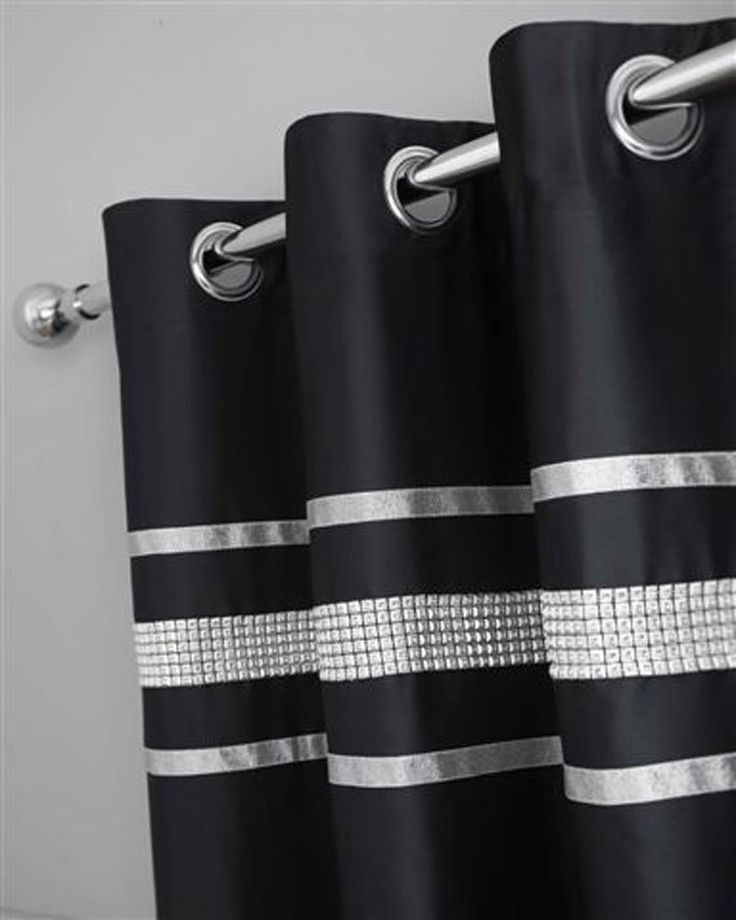 Black Amp Silver Diamante Bling Bedding And Or Curtains And
