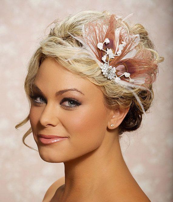 Pink Berry Fascinator Headpiece Bridal Head Piece By