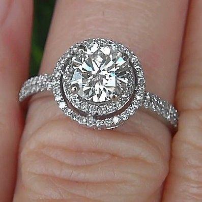 150 Carat Round Halo Pave Antique Style Diamond