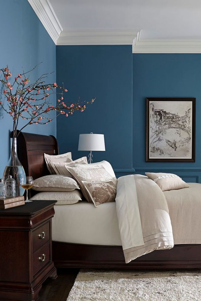 Made With Hardwood Solids Cherry Veneers And Walnut Inlays Our Orleans Bedroom Collection Brings Blue Wall Colorsmaster