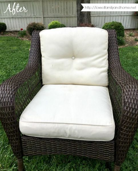 how to clean outdoor cushions patio furniture 25+ best ideas about Cleaning outdoor cushions on