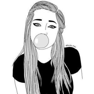 17 Best Ideas About Girl Drawings On Pinterest Cool Girl