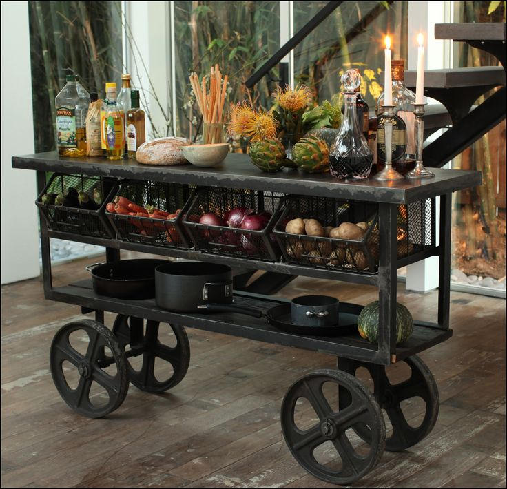 Kitchen Trolley Rustic Kitchens And Industrial On Pinterest