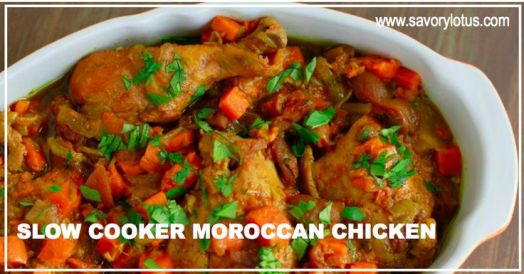 Slow Cooker Moroccan Chicken | savorylotus.com: