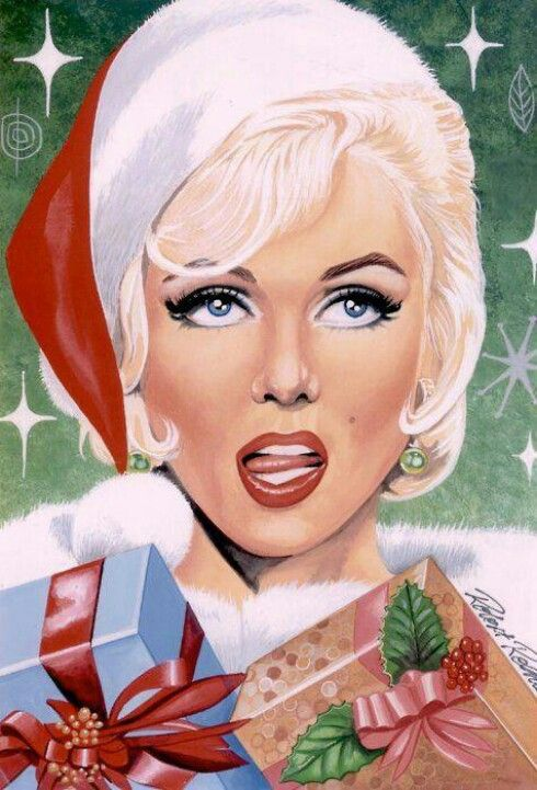8 Best Images About Marilyn Christmas Artwork On Pinterest