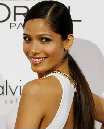 17 best images about ponytails on pinterest ponytail hairstyles sleek ponytail and freida pinto