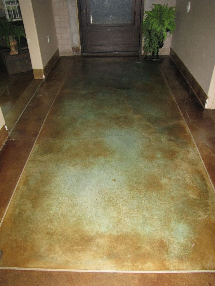 Stained Concrete Floor One Day In My Master Bath I Hate