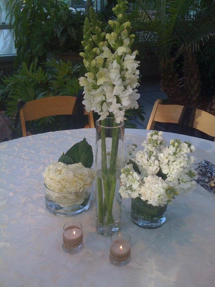 Wedding Flowers White Centerpieces Snapdragons Hydrangeas Stock Abandoned Fields Pinterest