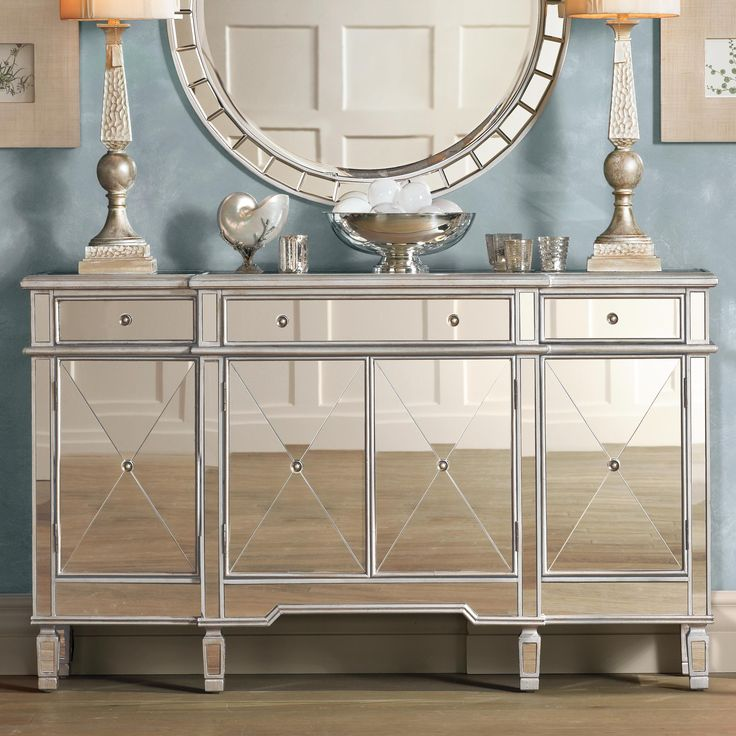 Hailey Mirrored Console Chest Home DecorFurniture Pinterest Silver And Consoles