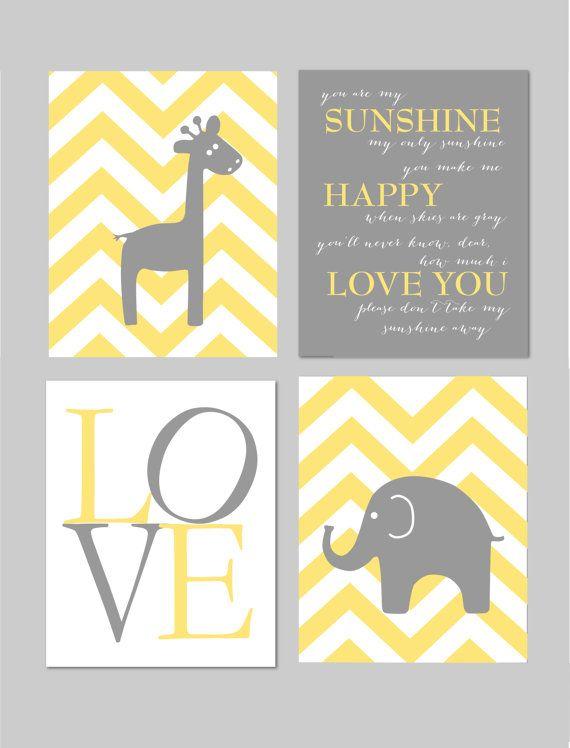 Yellow and Gray Nursery You