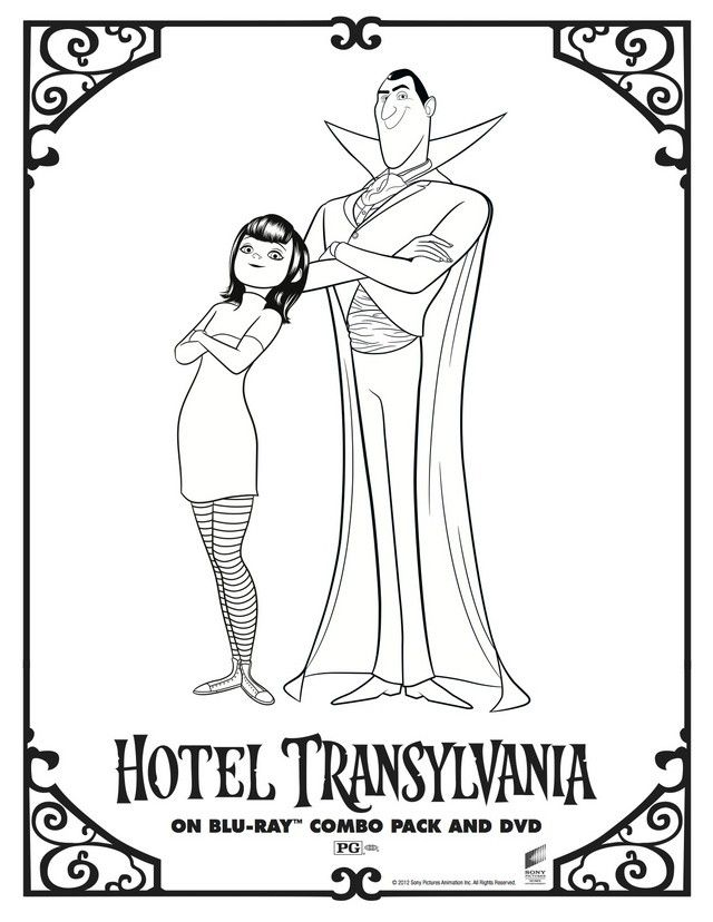 character coloring and activity pages hotel transylvania