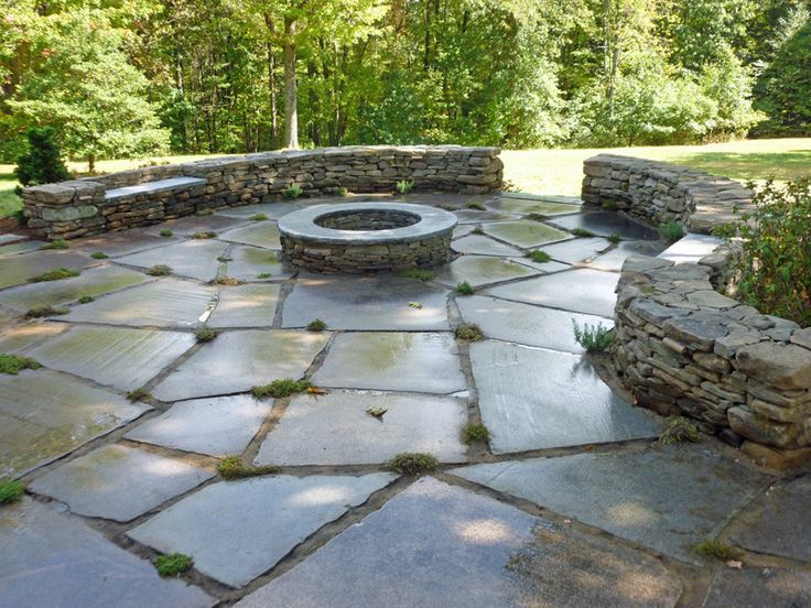 43 best images about patio ideas on Pinterest   Fire pits ... on Pebble Patio Ideas id=75928