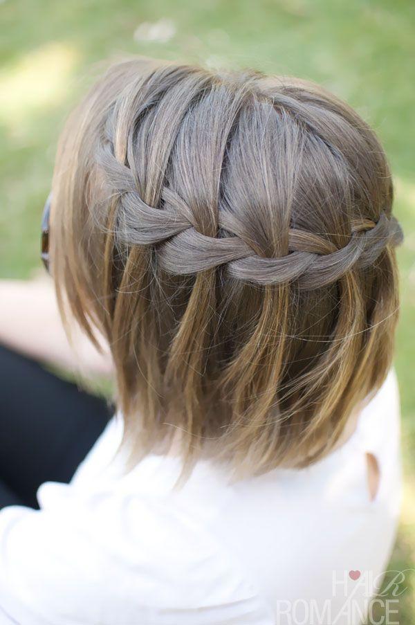 waterfall braid in short hair – tutorial: hairromance.com/2012/09/30-braids-in-30-days-day-2.html