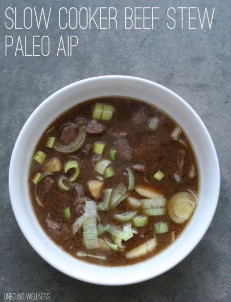 Slow Cooker Beef Stew (Paleo, AIP). Make sure your beef is 100% grass fed obviously:
