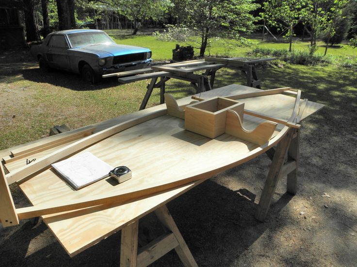 Starting The Frame For A Sneak Boat Cypress Strips Boats Amp Boat Building Pinterest