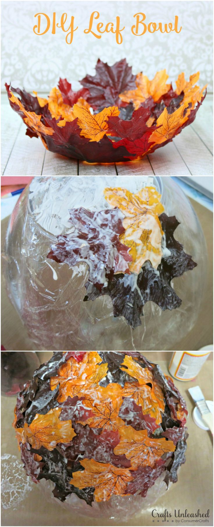 DIY Decorative Leaf Bowl for Fall: