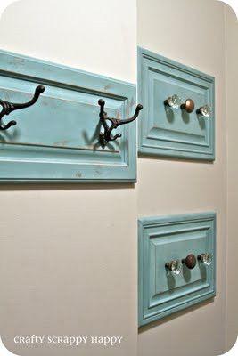 Use cabinet doors as towel