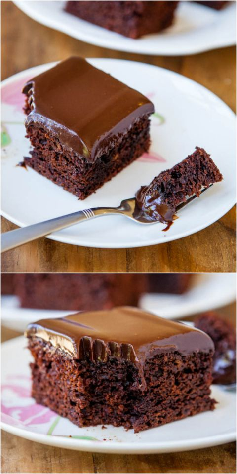 The Best Chocolate Cake With Chocolate Ganache – The best chocolate cake I've ever had, and the easiest to make! Nothing fussy or