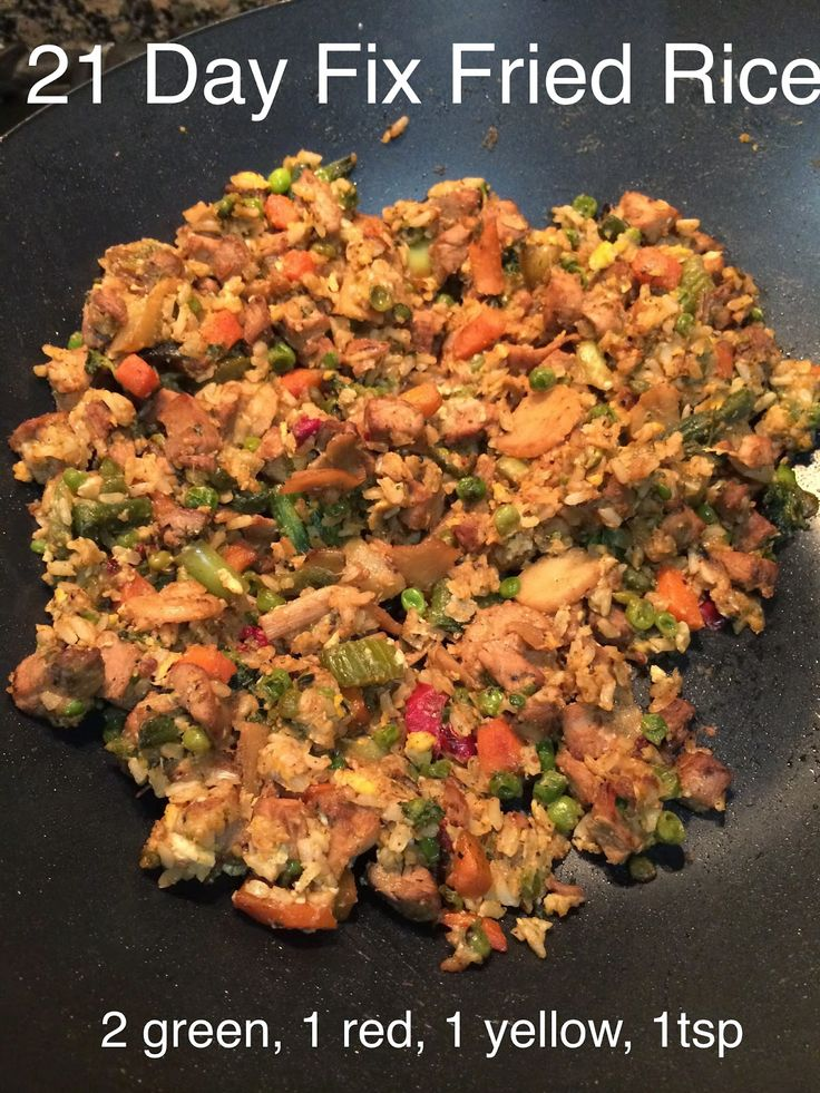 The Fit Life: 21 Day Fix Days11-13 & Recipe: Fried Rice
