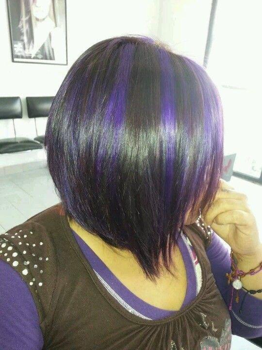 Mechas Moradas Lovely Hair Pinterest