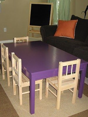 Large Kids Art Table Made Dining Room Cut Legs