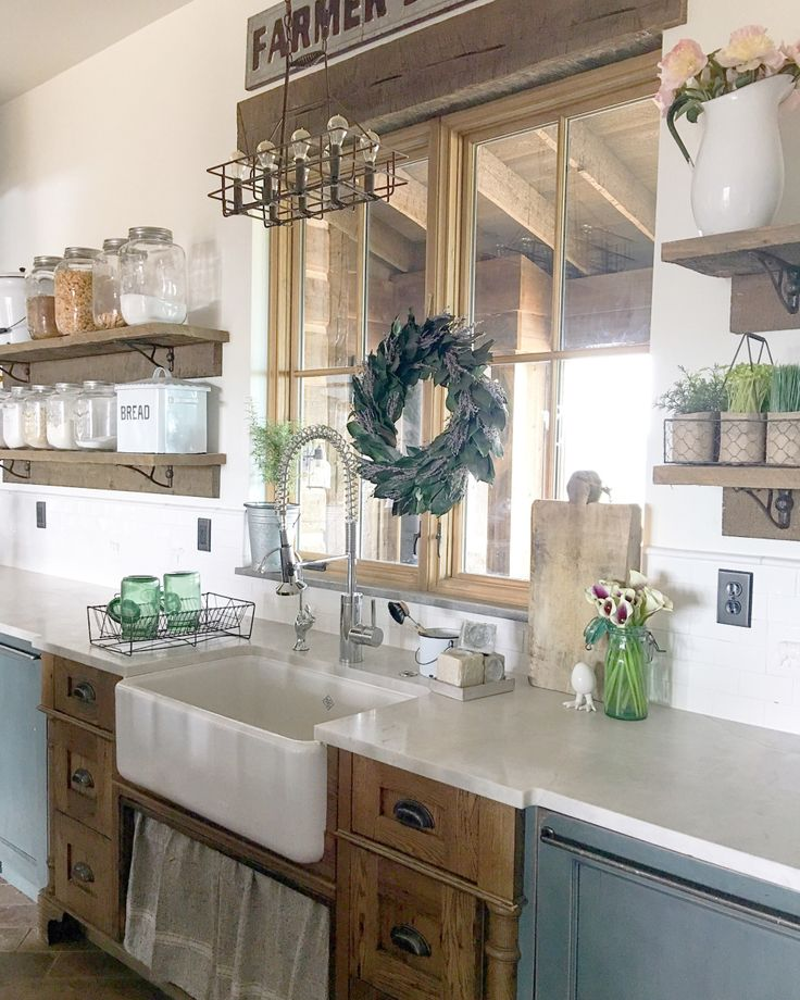 17 best images about modern country farmhouse kitchen on pinterest on farmhouse kitchen kitchen id=27238