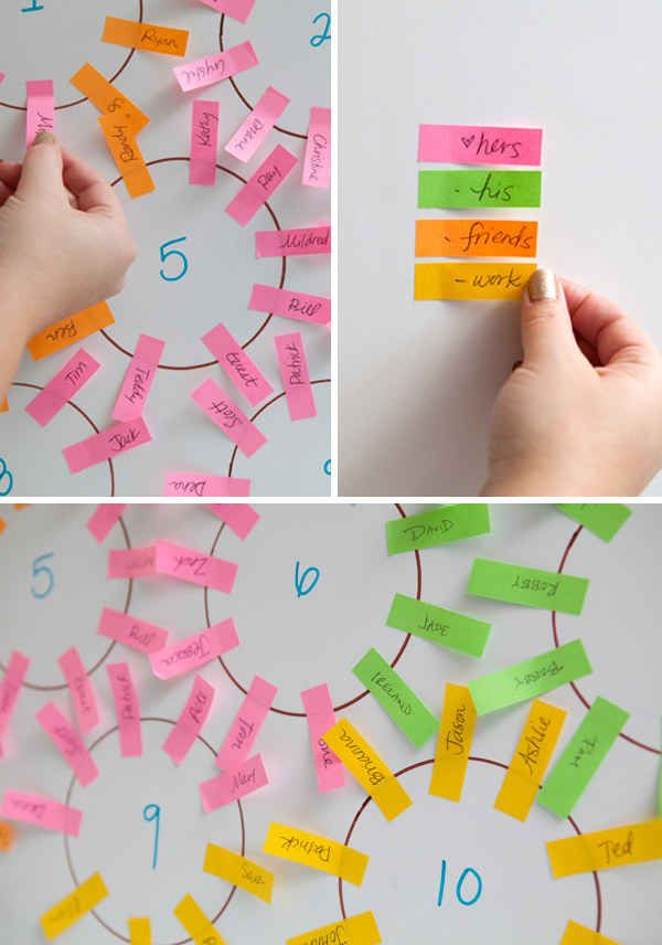 Make a seating chart in a f