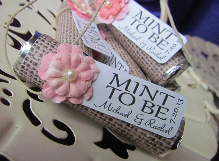 """Personalized """"mint To Be"""" Wedding Favors. Mint Wedding"""