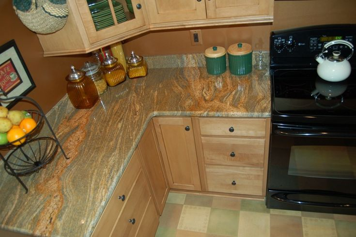 1000+ images about granite on Pinterest | Grey cabinets ... on Gray Countertops With Maple Cabinets  id=18415