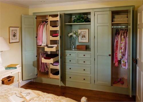 Do Away With Sliding Closet Doors Or Bi-fold. Country