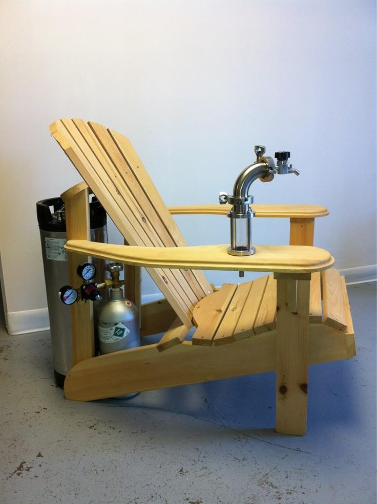 MuskokaAdirondack Chair With A Keg Tap I Could See My