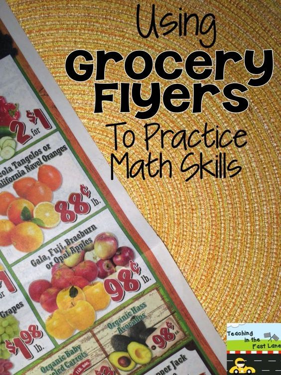 Using Grocery Flyers To Practice Math Skills