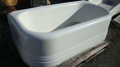 Antique Vintage Left Corner 3 Sided Skirt Bath Tub