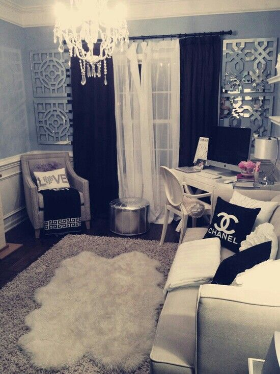 I need a girly space like this at home!
