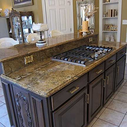 Featuring A Built In Gas Range This Island Was Made For Entertaining Granite Countertop