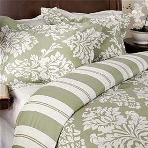 Havana Sage Green And Ivory Cotton Duvet Comforter Cover