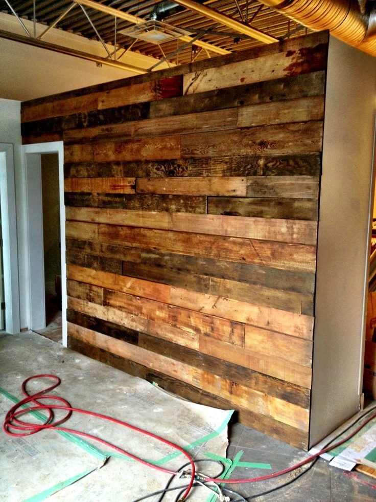this reclaimed wall could be a great look as a backdrop to on pallet wall id=11922