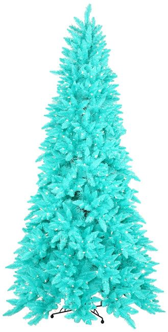 Blue And White And Silver Christmas Tree Theme