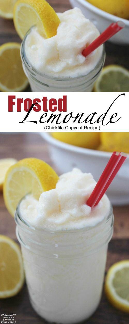 Frosted Lemonade Recipe! DIY Copycat Chickfila Recipe for this Frozen Drink!