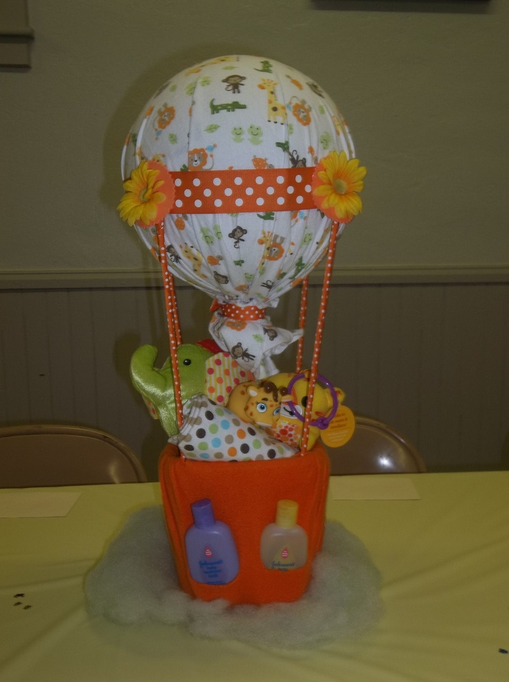 17 Best Images About Baby Shower Hot Air Balloon On Pinterest Baby Shower Pink Centerpieces