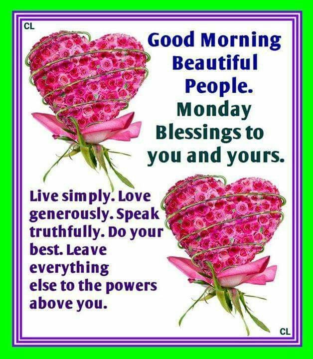 Morning Happy Monday Blessings
