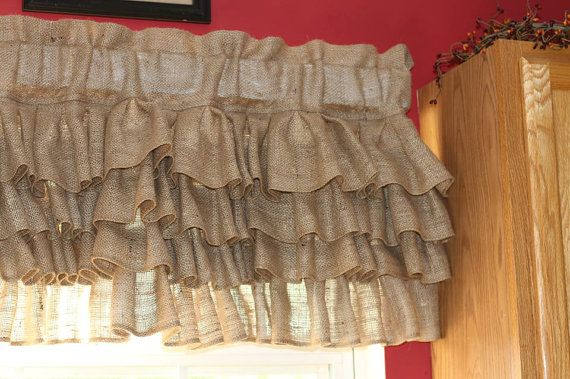 Burlap Curtain Burlap Valance Burlap Curtains Curtains Valance Burlap Valances Ruffle