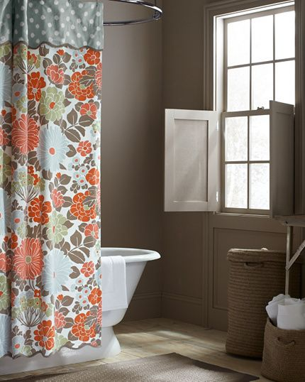 17 Best Ideas About Coral Shower Curtains On Pinterest Navy Shower Curtains Bathroom Color